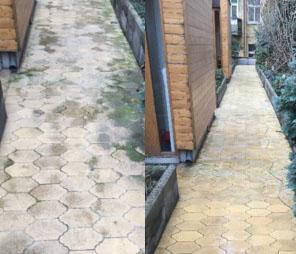 chodník před a po