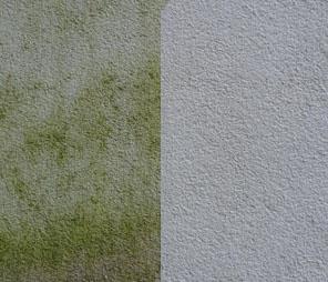 zeď před a po